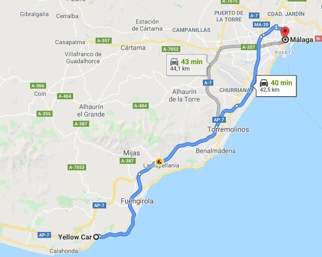 Como ir de Málaga a Cala de Mijas