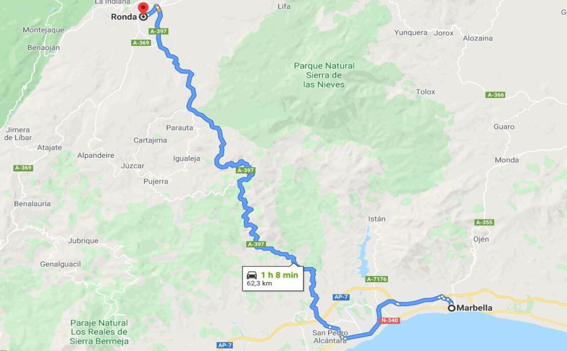 Como llegar Marbella a Ronda?