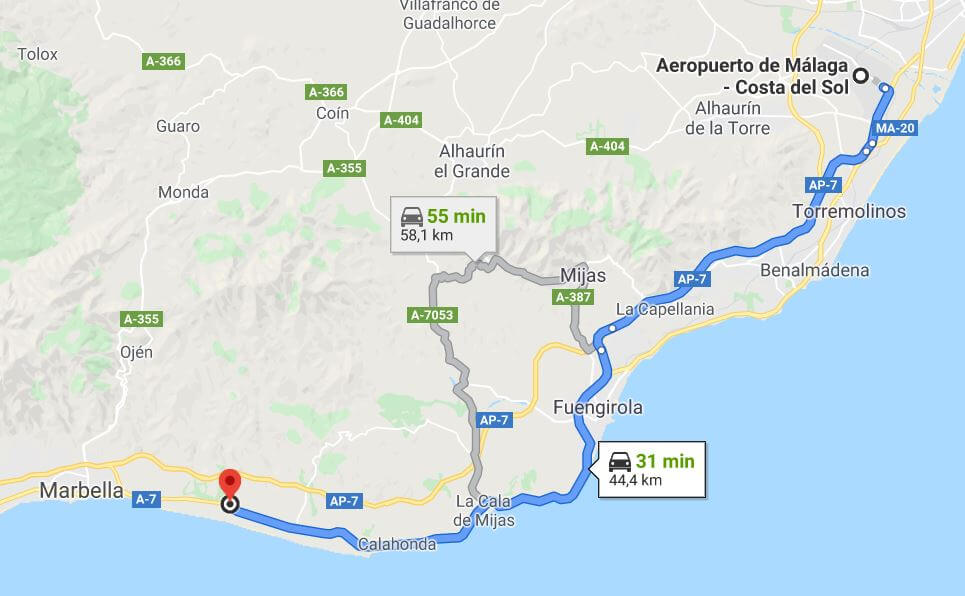 aeropuerto en Marbella
