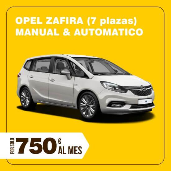 Alquiler coches larga duracion Opel Zafira 7 plazas