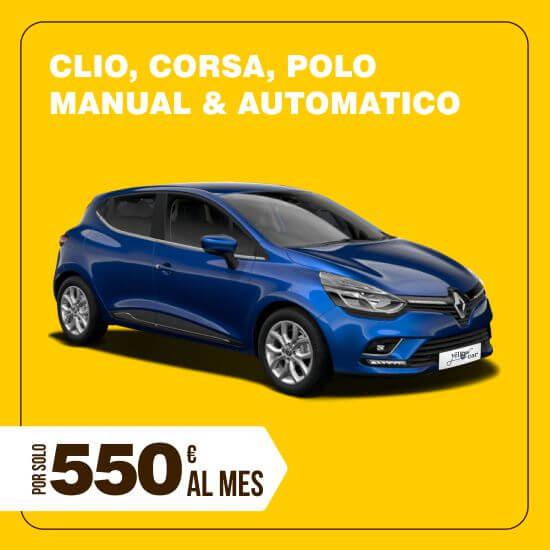 Alquiler Clio, Corsa automático o Polo larga temporada