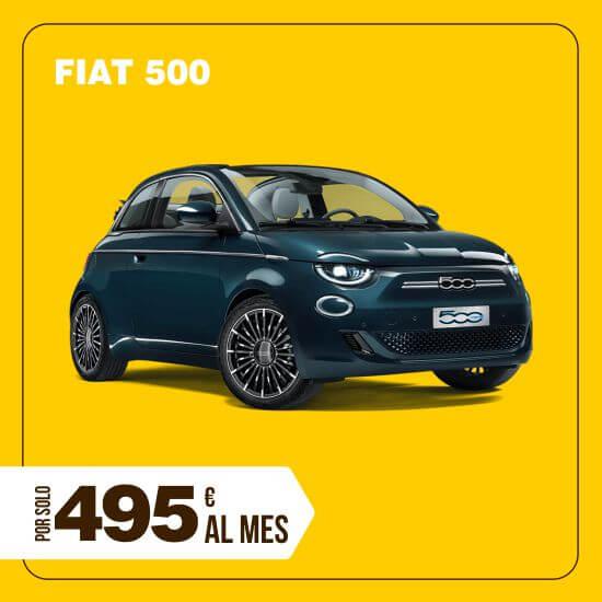 Alquiler renting Fiat 500 larga temporada
