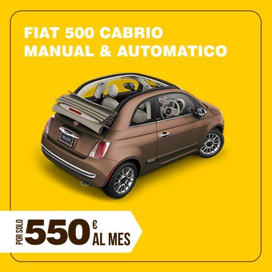 Alquiler Fiat 500C descapotable larga temporada